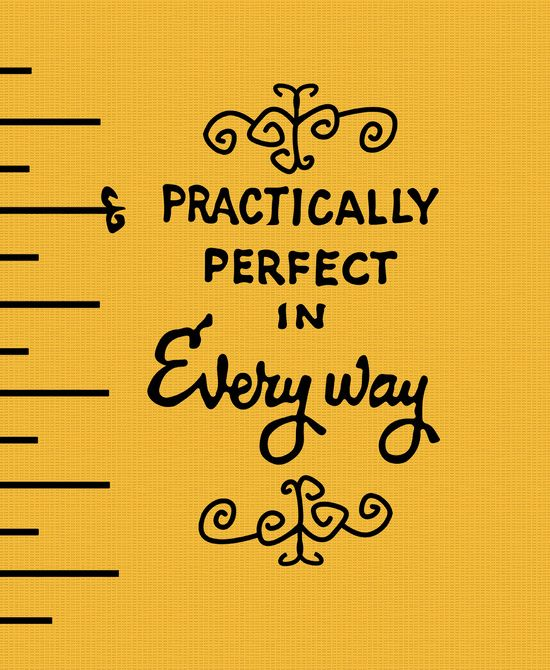 Practically perfect in every way mary poppins measuring tape   Art