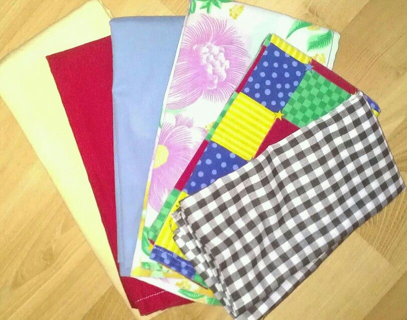 FRUGAL: Homemade cloth napins from old fabric I had! Will not waste my money anymore on paper napkins. Double up the fabric & sew edges...simple DIY
