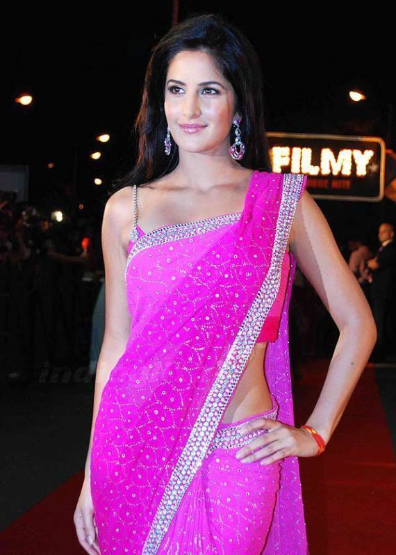 43ca2c78eb Katrina Kaif hot in Pink Saree Download FREE | Perfect In Pink ...
