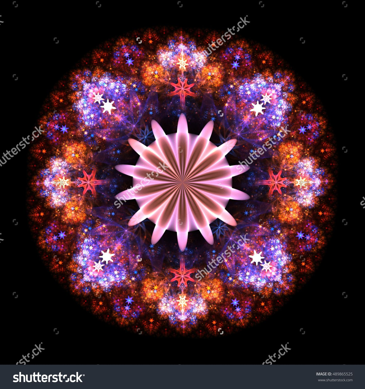Filigree  Fractal Flower Mandala    - Fractal Art