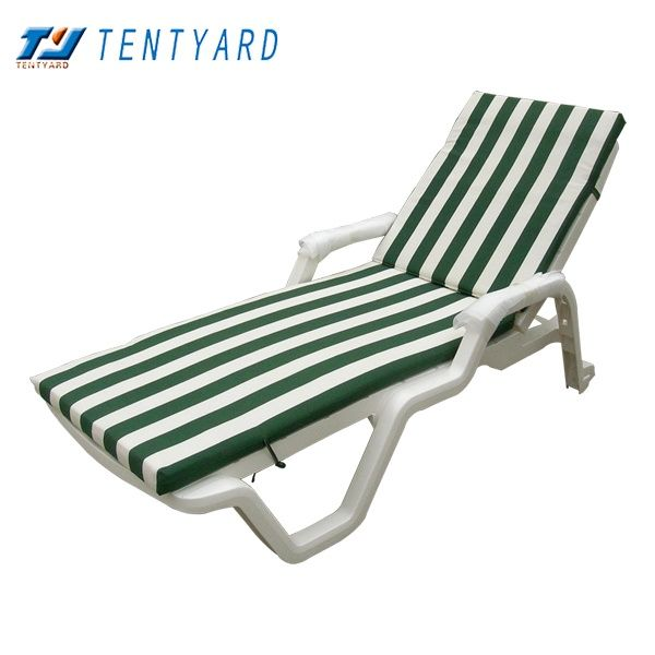 Etonnant Green And White Stripe Beach Sunbed Chair Cushion. Beach Chair Cushion,  Beach Sunbed Chair Cushion, Green And White Beach Chair Cushion