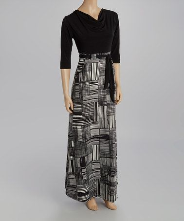 8c8bf4e68a5 This Black   White Linear Maxi Dress is perfect!  zulilyfinds ...