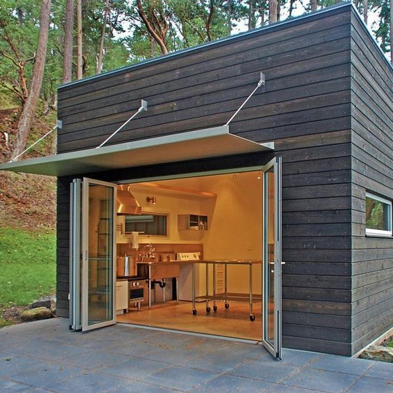 Top 5 Modern Garage Designs: This Is Amazing. I'd Love To Have A Little Brew Pub Shed