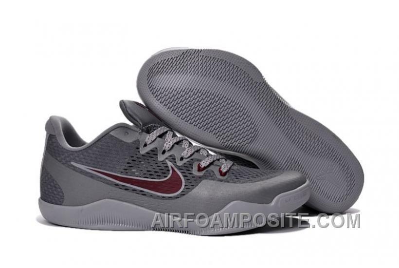 "huge discount 66750 e81e9 Shop Nike Kobe 11 ""Aces"" Cool Grey Team Red-Wolf Grey 2016 Super Deals black,  grey, ..."