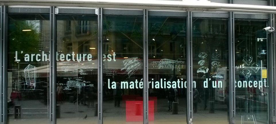 Centre Pompidou – Musée National d'Art Moderne in Paris - Bernard Tschumi exhibition