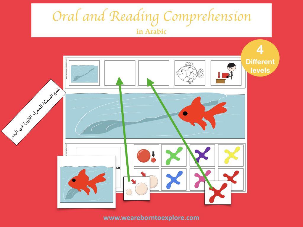 فهم تعليمات بسيطة Comprehension Reading Comprehension Reading [ 768 x 1024 Pixel ]