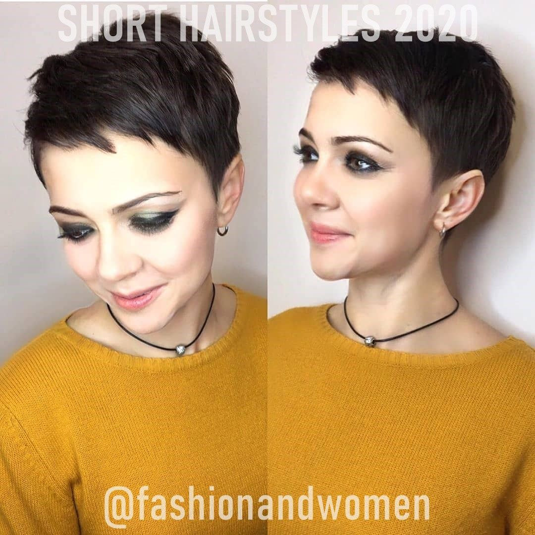 Short Hairstyles Long Face In 2020 Hair Styles Short Hair Styles Very Short Hair