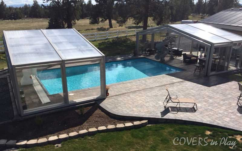 When It Comes To Value Covers In Play S Retractable Pool Enclosure Is Extremely Cost Effective Our Enclosures A Pool Enclosures Pool Swimming Pool Enclosures