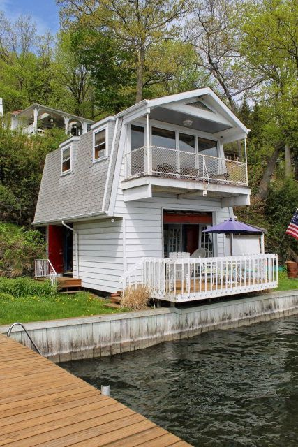 Astounding 2 Story Converted Boat House Watkins Glen Cottage Rental Download Free Architecture Designs Intelgarnamadebymaigaardcom
