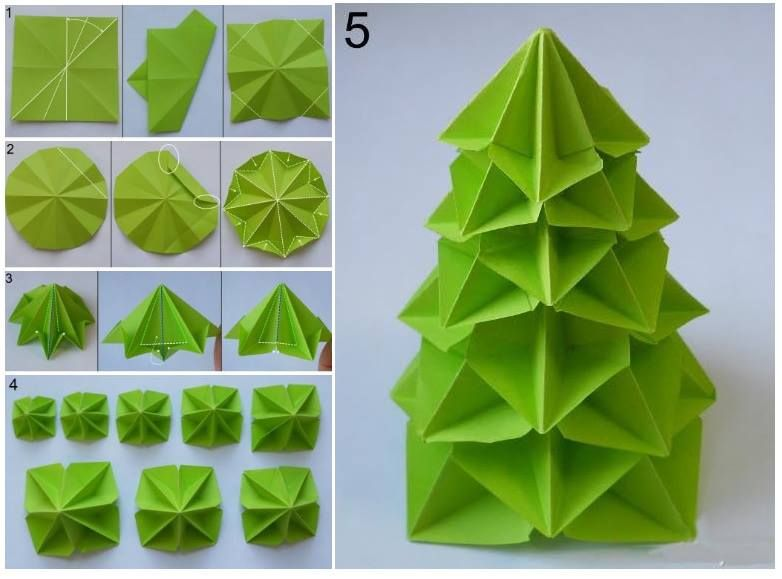 How To Make Paper Craft Origami Tree Step By Step Diy Tutorial