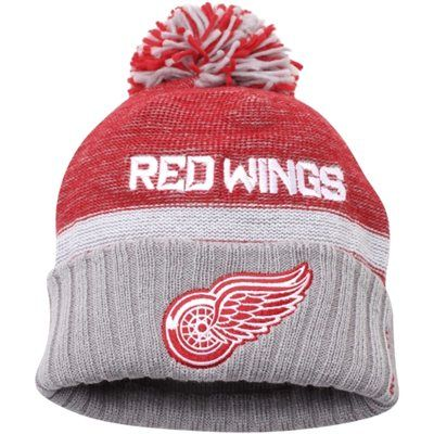 quality design 90437 1deab Mens Detroit Red Wings Reebok Red Cuffed Knit Hat with Pom