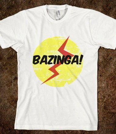 Sheldon's Bazinga shirt $22.99