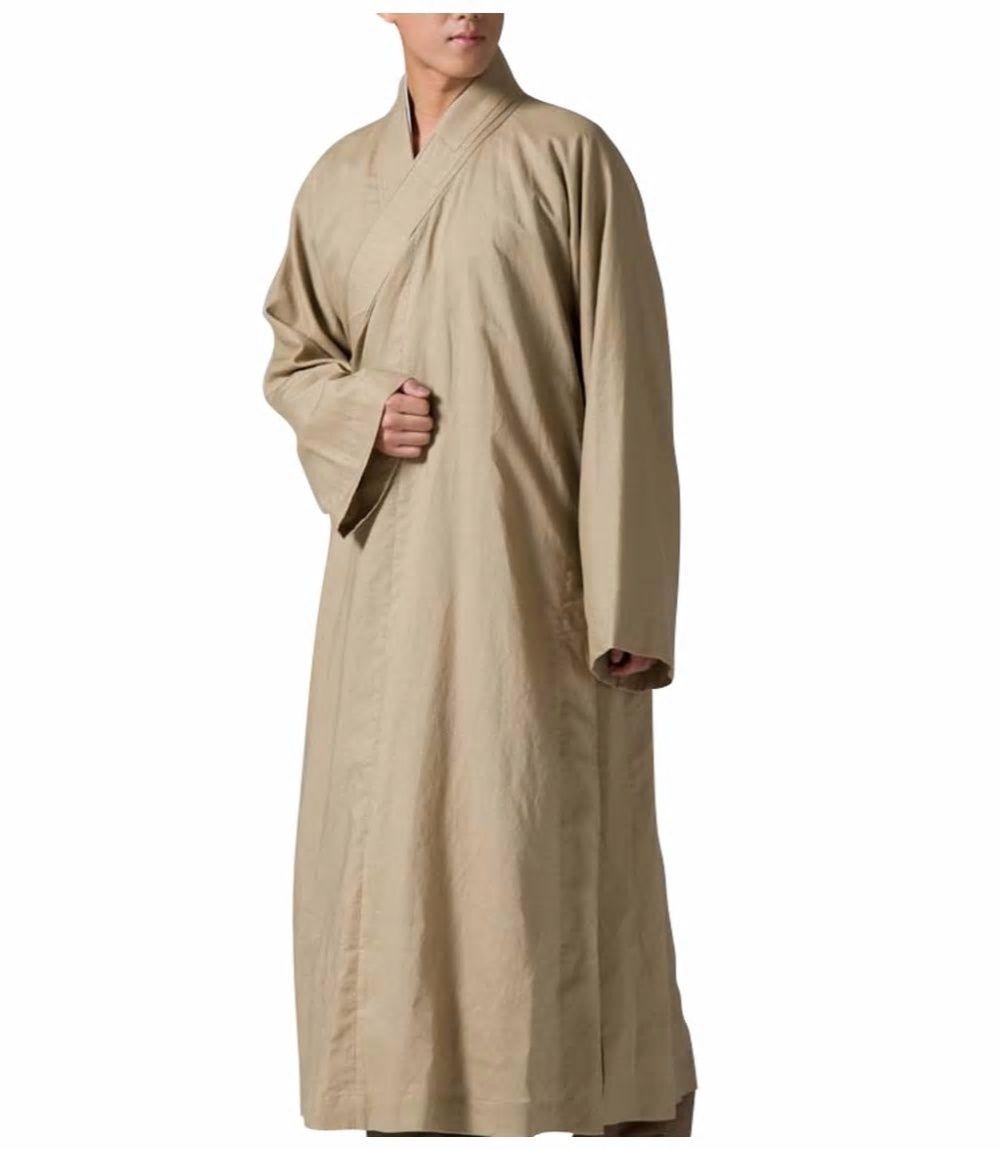 7984269dbb Zanying buddhist monk robe meditation religion gown linen flax zys jpg  1000x1149 Green monk robe