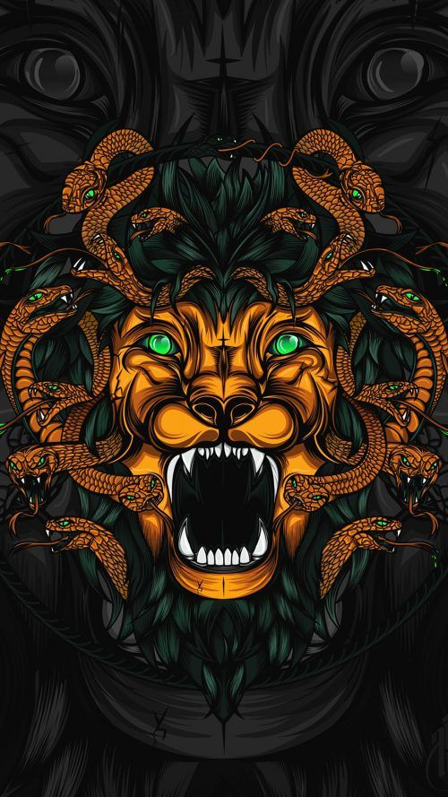 Badass Wallpapers For Android 20 0f 40   Animated Lion and Snakes     Badass Wallpapers For Android 20 0f 40   Animated Lion and Snakes   Iphone  wallpapers   Pinterest   Badass  Snake and Lions