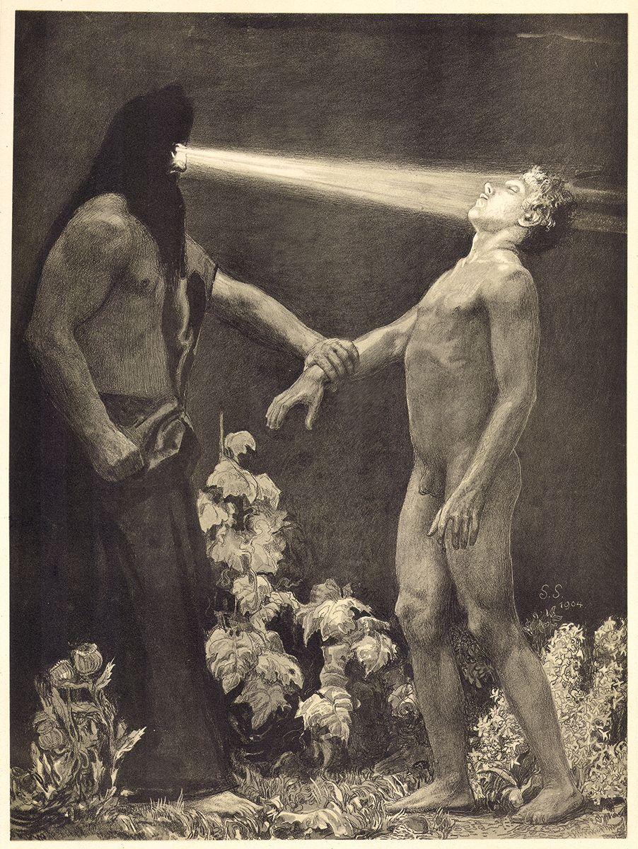 Hypnose Worms hypnose 1904 by sascha schneider esoteric alchemy