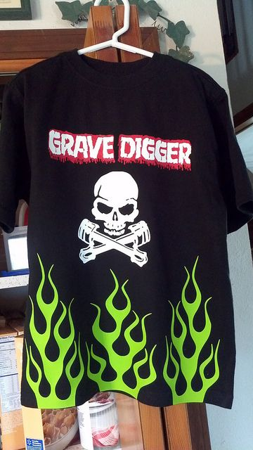 8a51ee05 Grave Digger (montser truck) shirt made with Silhouette heat transfer vinyl