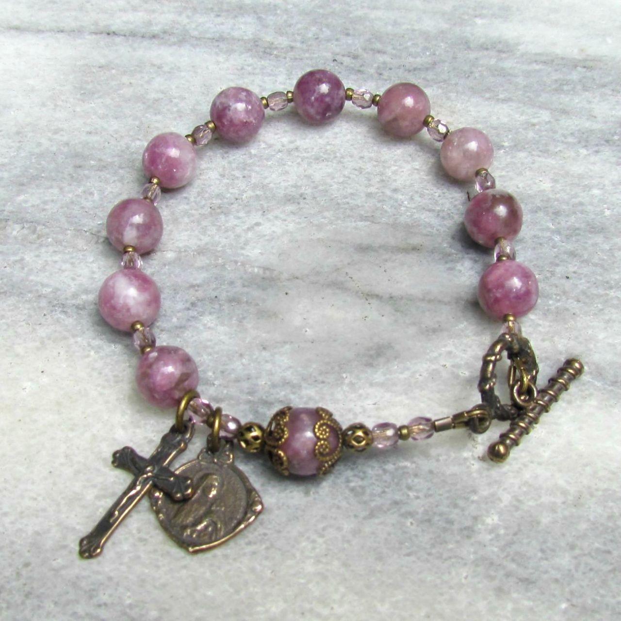 A handmade Catholic rosary bracelet for men and women The vintage