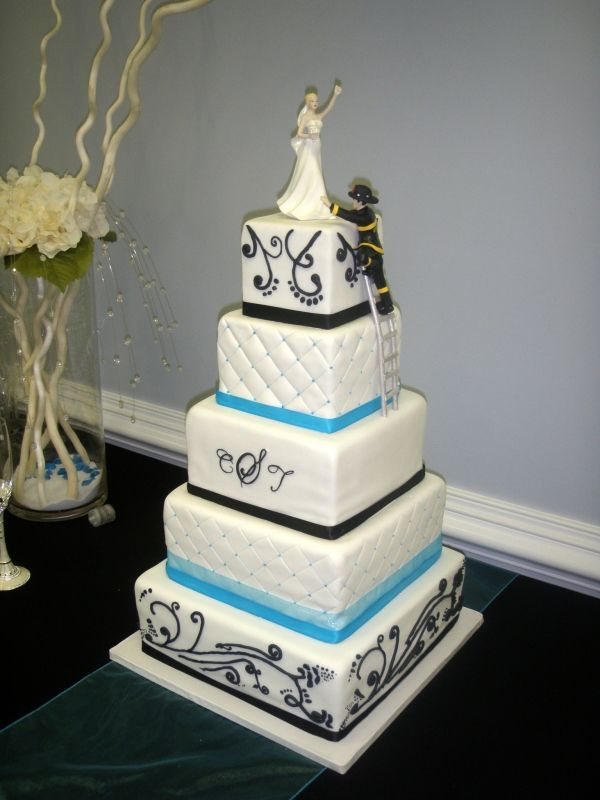 wedding cake decorations pictures firefighter wedding cake shared by 22407