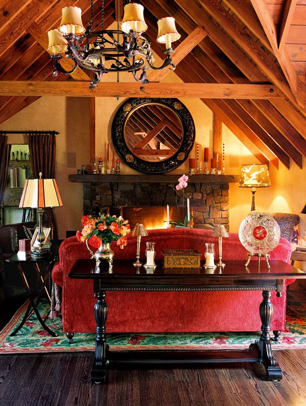 Orinda Tudor Cottage | Adeeni Design Blog. i could get snuggy in a room like this.