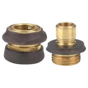 Gilmour 9qc Brass Hose Quick Connector Set By Gilmour 10 00 Set Includes 1 Male And 1 Female Quick Connector Heavy Duty Solid Brass Set Sale Water Garden