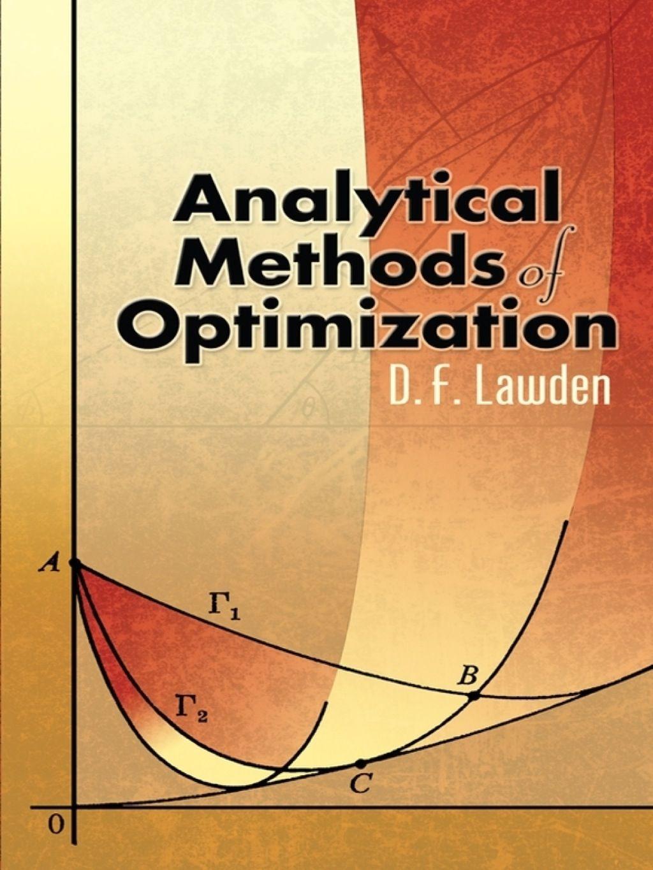 Ytical Methods Of Optimization Ebook