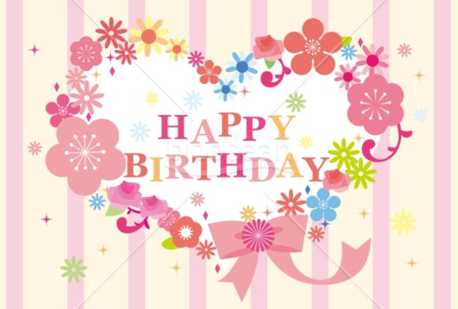 誕生日 バースデーカード006画像です キレイな花々をハートで型取りました Happy Birthday の文字が誕生日 のお祝いを更に盛り上げてくれるメッセージカードです お誕生日のプレゼントに添 バースデーカード Happyバースデー カード 手作り