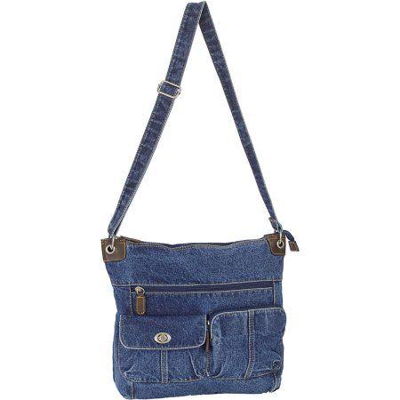 Women's Cartidge Pocket Crossbody Handbag, Blue