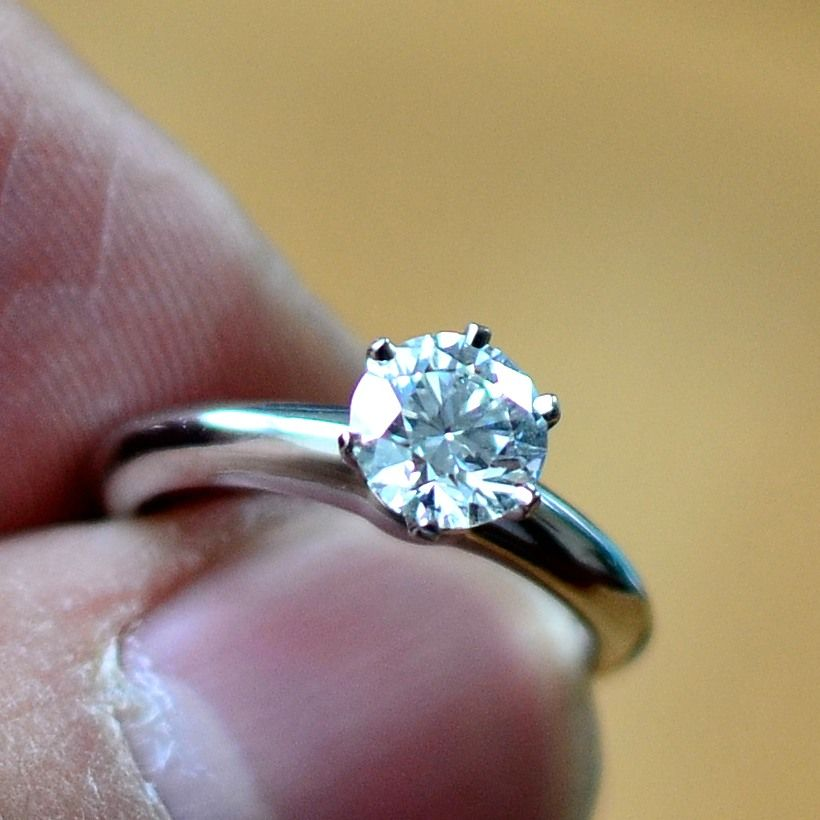 Tiffany Amp Co Round Brilliant Cut Diamond Engagement Ring In The Classic Platinum Tiffany