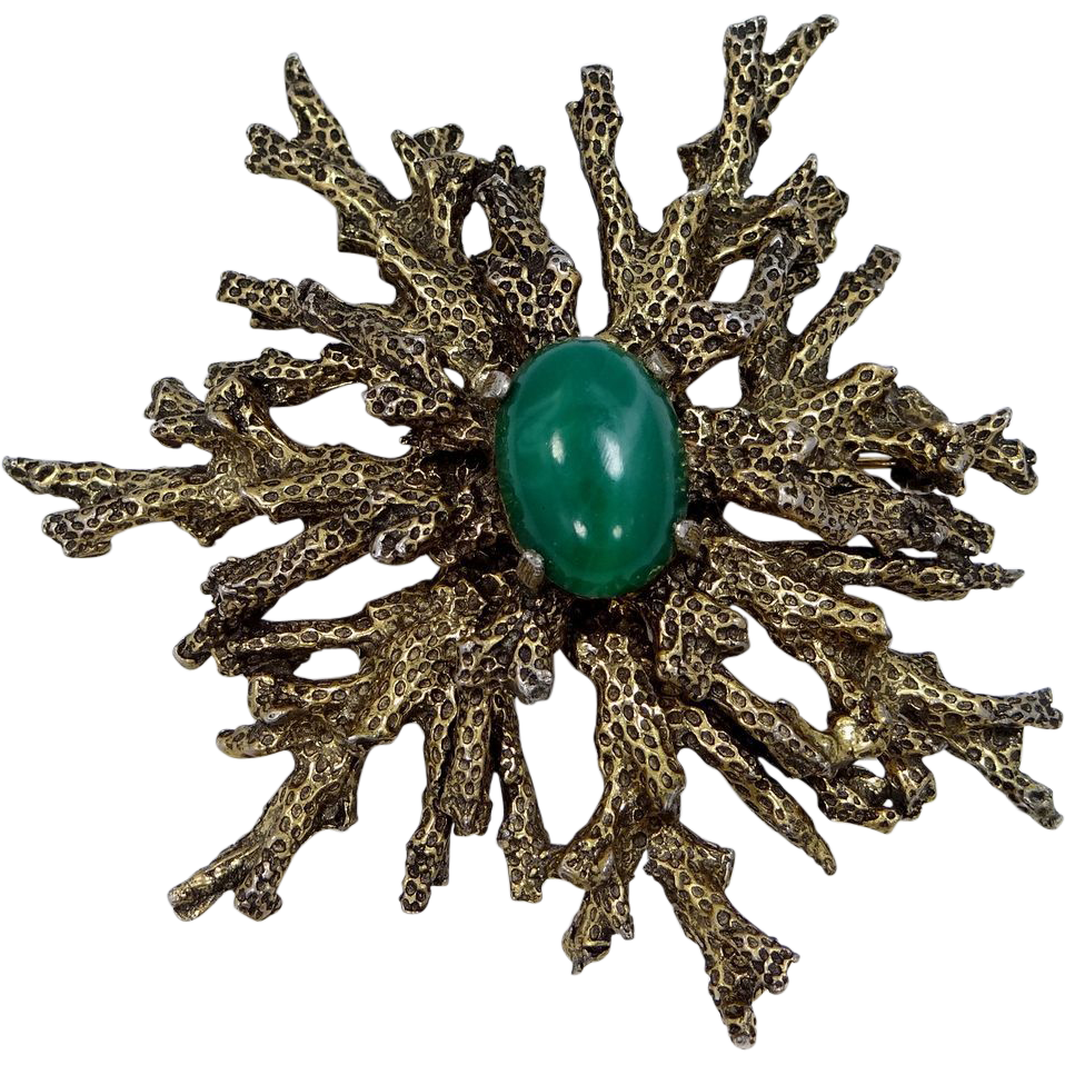 "1950s Zentall Abstract Brooch ""Sea Coral"" Design"