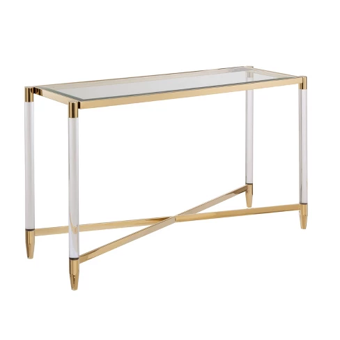 Colter Acrylic Console Table Gold Aiden Lane Entryway Console Table Basement Living Rooms Console Table