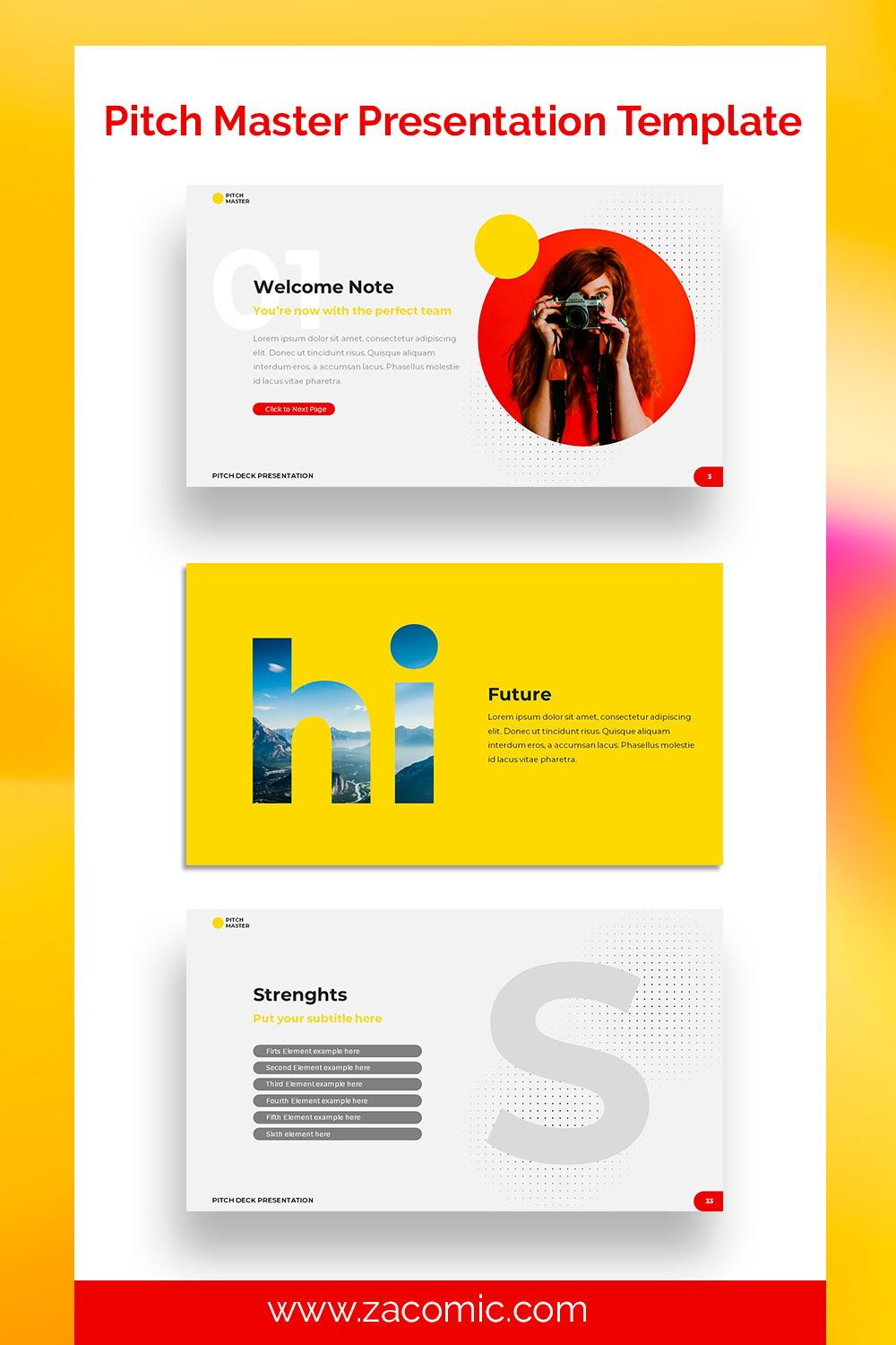 Pitch Deck Google Slides Template Template For Powerpoint