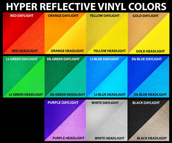 12 X 15 3m Reflective Vinyl Sheet 12 Inch X 15 Reflective Decals Vinyl Sheets Vinyl
