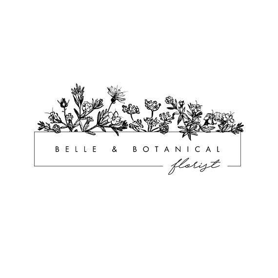 Editable Logo Design Template, Botanical Flowers, Herbs, Hand Sketched Flowers, Photography Logo, Florist Logo, Vintage Flowers, floristry