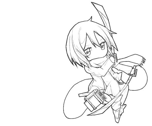 Attack On Titan Chibi Coloring Pages