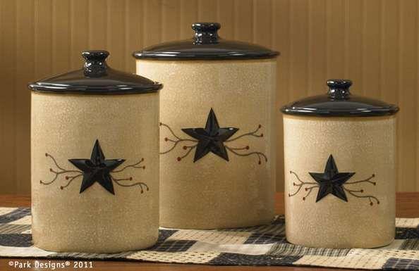 Star Vine Canister By Park Designs Ceramic Canister Set