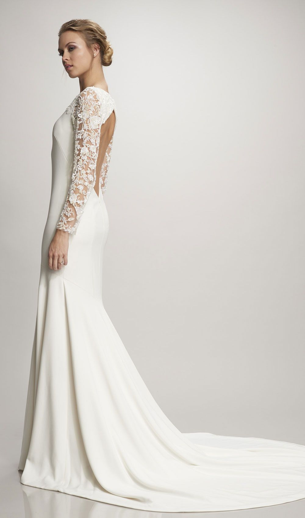 A great fall or winter wedding dress with long sleeves from theia