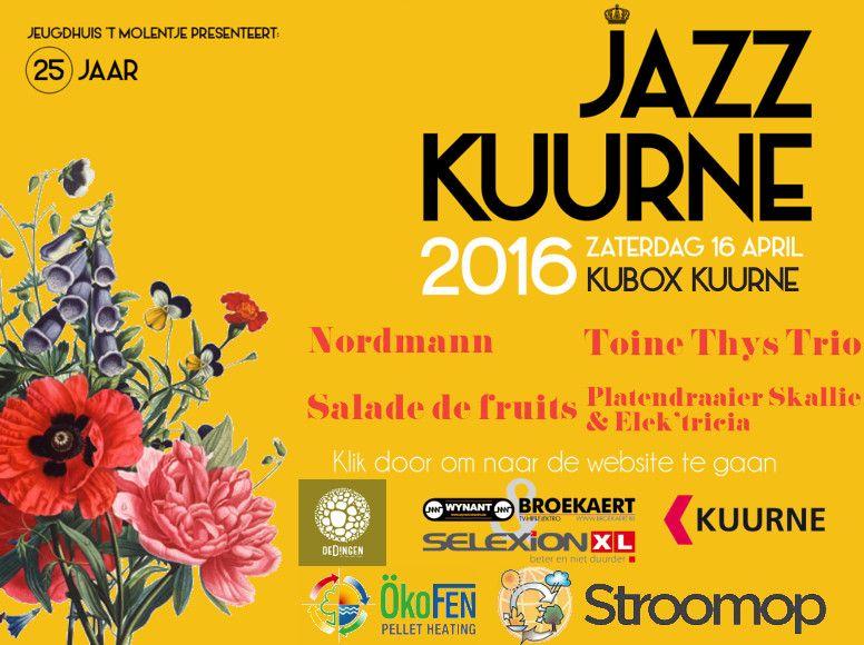 Jazz Kuurne 2016- Zaterdag 16 april Kubox Kuurne