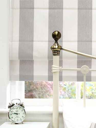 Amelie Grey Roman Blind For Downstairs Bathroom