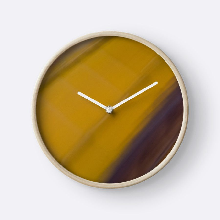 Abstract Railway\' Clock by galerie503 | Clocks, Throw pillows and ...