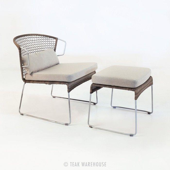 Teak Warehouse | Sophia Relaxing Chair And Ottoman (Sampulut)