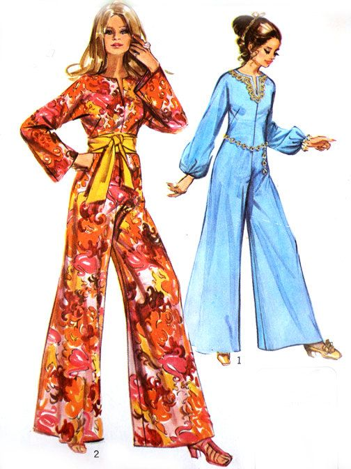 Vintage 70s Sewing Pattern Simplicity Jiffy Simple-To-Sew 9113 Mod ...