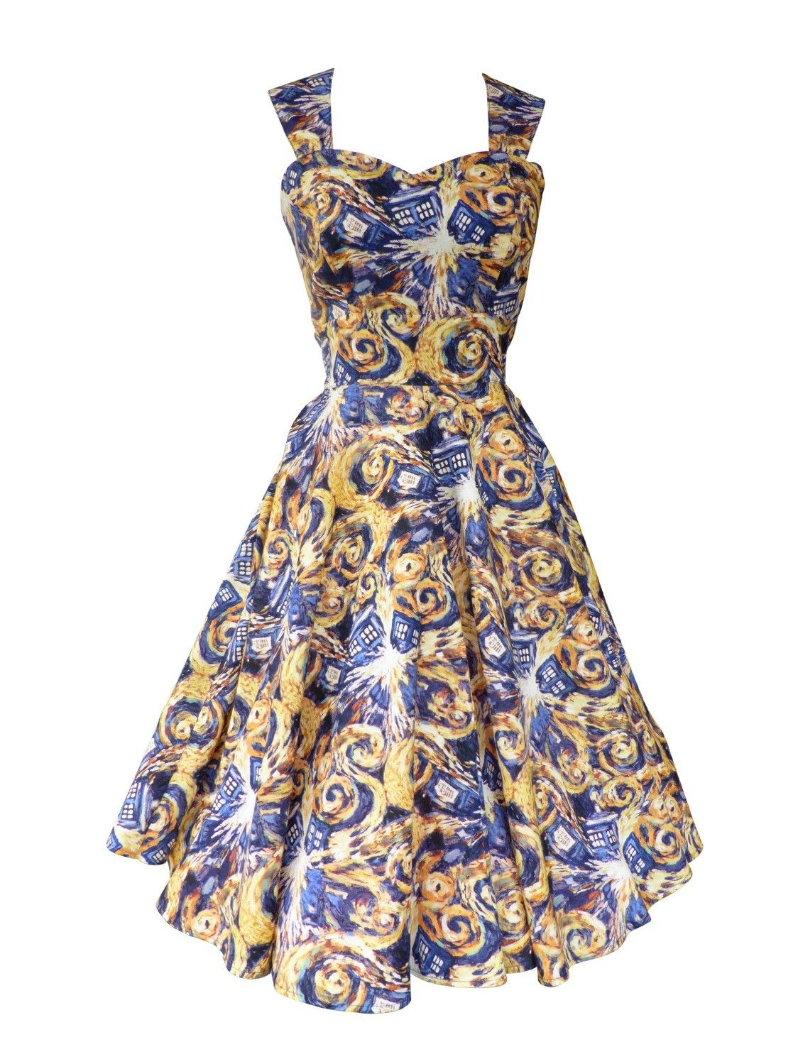 Dr Who Tardis | vintage style dresses | swing dresses | Geek chic ...