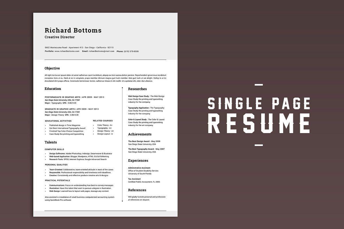 Resume Box for College Graduates V.1 in 2020 Cover