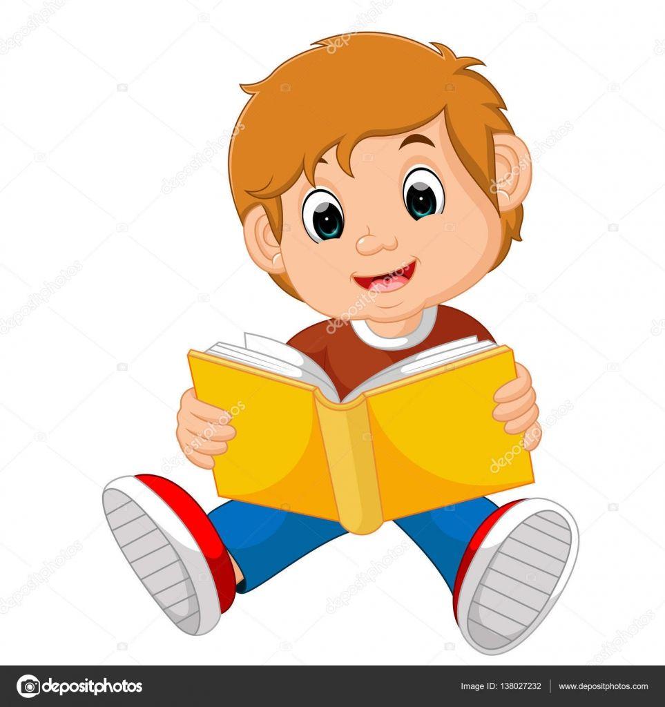 Ilustracion De Nino Leyendo Libro Books To Read Illustration Stock Illustration