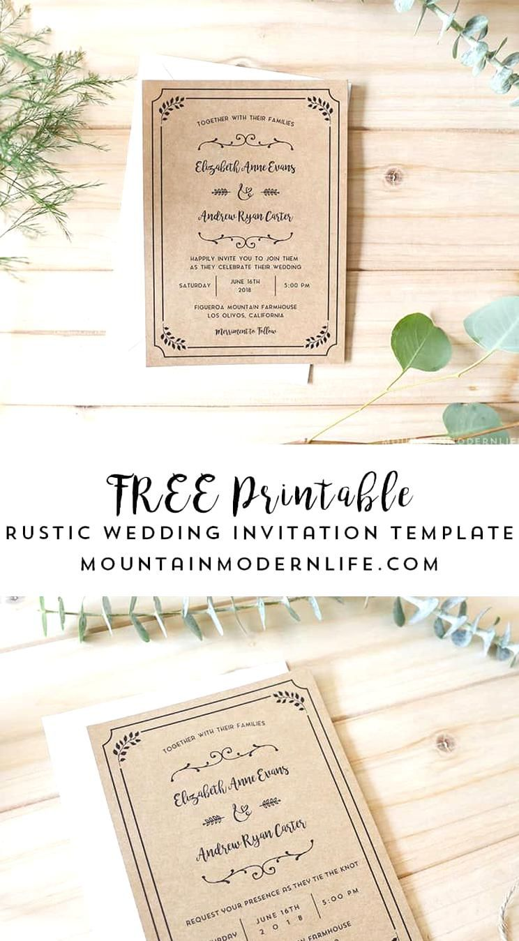 Planning A Rustic Wedding Download Thi In 2020 Wedding Invitation Templates Rustic Wedding Invitations Printable Templates Free Printable Wedding Invitation Templates