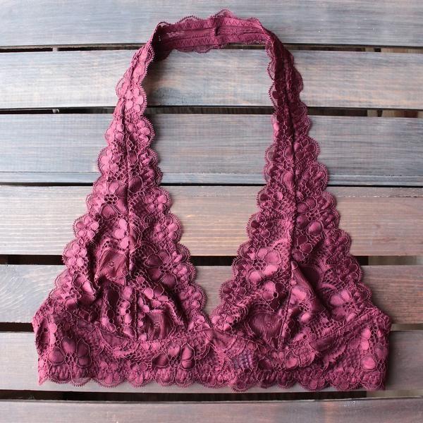 f6431e30abb intimate semi-sheer halter lace bralette (7 colors) - shophearts - 3