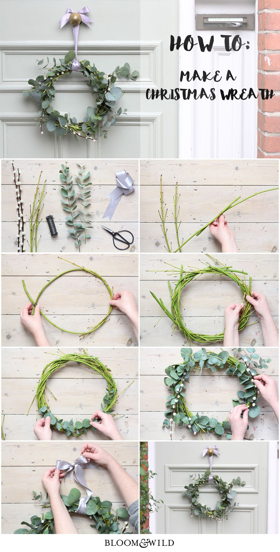 Photo of Make a Nordic-inspired Christmas wreath using elements of your Bloom & Wild bouq…
