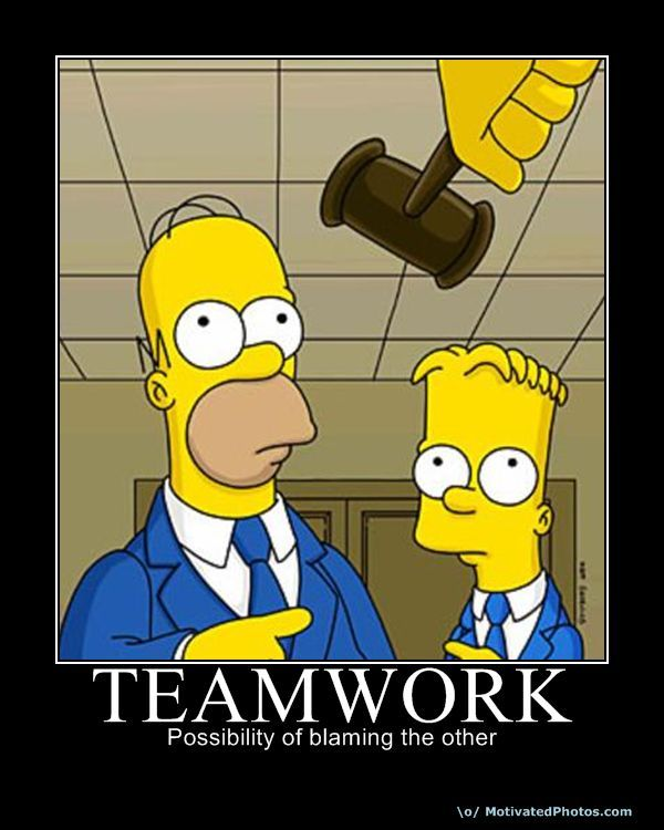 Simpsons Quotes: Teamwork And Sarcasm