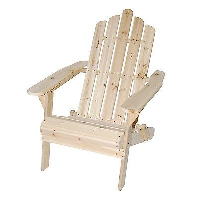 Astonica 50108138 Unfinished Folding Wood Adirondack Patio Deck Outdoor Chair Fund Raising Ideas Kitchen Chairs Chair Outdoor Chairs