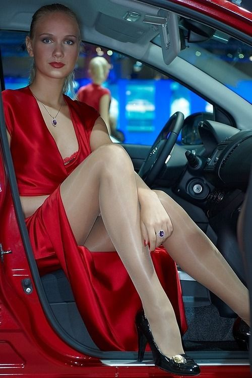 Thanks. Choice pantyhose legs in cars are not